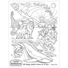 We offer printable coloring pages for your convenience. All Things Denote There Is A God Coloring Page Printable