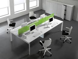 cool office tables. Fabulous Refreshing Green Accents On Modern Office Desk Which Is Painted In White Completed With Table Lamp Cool Desks Tables F