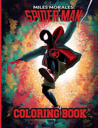 Spiderman gets ready to hit hard. Miles Morales Spiderman Coloring Book Over 50 New Spider Man Coloring Pages For Boys Girls Funny Books For Kids Ages 4 8 Press Marilo 9798567607183 Amazon Com Books