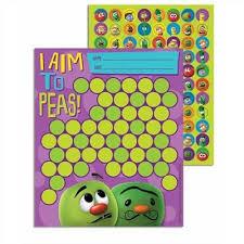 Sunday School Sticker Charts Veggietales Mini Reward Charts With Stickers