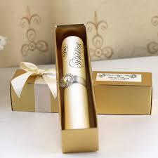 Hi2052 Royal Golden Scroll Wedding Invitation With Rhinestone Brooch