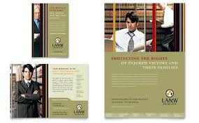 Brochure Templates In Word Gorgeous Lawyer Law Firm Flyer Ad Template Word Publisher