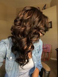 Dark Brown Hair With Carmel Highlights