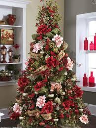 Christmas Tree Decorating Ideas With Flowers Elegant