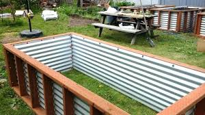 corrugated metal garden beds. Modren Corrugated Corrugated Metal Raised Garden Beds Diy Bed Iron Inside Corrugated Metal Garden Beds D