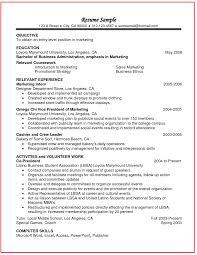 Marketing Job Resume Examples Resume Peppapp