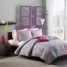 com comforter girls teen bedding set pink purple yellow paisley pillows update your rooms look instantly full queen or twin twin xl full queen