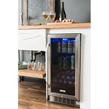 built in beverage cooler. Unique Built Shop EdgeStar CBR901SG 15 Inch Wide 80 Can BuiltIn Beverage Cooler With  Blue LED Lighting  Free Shipping Today Overstockcom 14270303 To Built In I