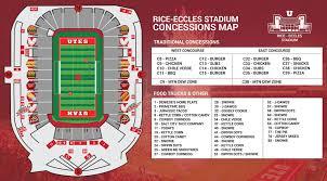 Rice Eccles Stadium Detailed Seating Chart 2019 Utah Football Game Day Guide Stadium Arena Event