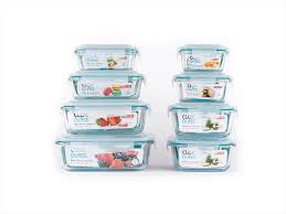neoflam cloc glass 16 piece food storage containers with airtight lid safe for microwave