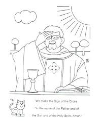 Catholic Coloring Pages Printable Easter Auchmar