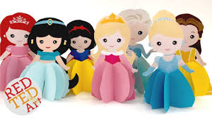 3d Princess Paper Doll Coloring Pages Youtube