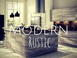 Rustic Looking Kitchens Modern Rustic Kitchen Design Miserv