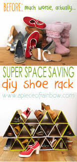super space saving and surprisingly sy diy shoe rack a piece of rainbow
