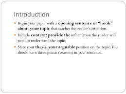 essay structure introduction begin your paper a opening  introduction begin your paper a opening sentence or hook about your topic that catches the