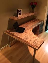 office desk solid wood. Desk: Wood And Glass Desk Home Office Solid Wooden
