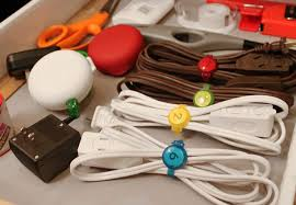 Cord Holders, Colored Cable Straps by Dotz