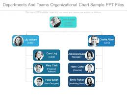 Departments And Teams Organizational Chart Sample Ppt Files