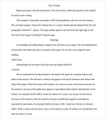literature review example apa apa format sample paper essay example of an essay outline format