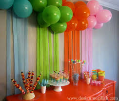 birthday party decorations for girl in flagrant birthday party