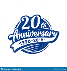 Design Th 20 Years Anniversary Design Template Vector And