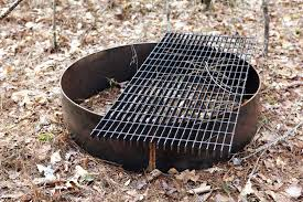 likeable fire pit grate in elegant round outdoor lovely