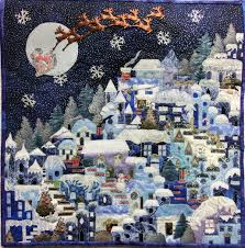 HV studentgall & A very Merry Christmas Village!!! by Paula Klingerman, Southington, CT  Apple Valley Quilt Guild Adamdwight.com