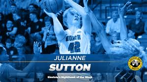Sutton Selected As Einstein's Nighthawk of the Week - University of North  Georgia Athletics