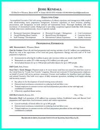Gallery Of Chef Resume Examples