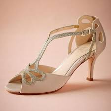 Blush Low Heel Wedding Shoes Hollow Out Peep Toe Bridal Sandals Peep Toe Kitten Heel Wedding Shoes