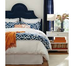 orange bedroom furniture. close up of the same shot blue headboard with whitesilver side table navy orange and white love throw bedroom furniture
