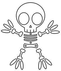 Small Picture Halloween Skeleton Coloring Pages