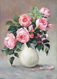 flower paintings oil field of roses handmade livemaster handmade field of roses