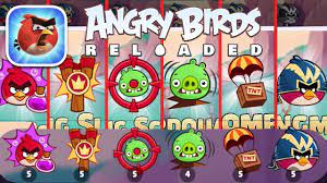 Angry Birds Reloaded - ALL POWER UPS Gameplay - YouTube
