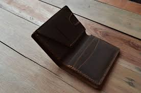 distressed leather vertical wallet
