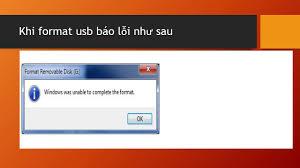 Hướng dẫn xử lý lỗi không format được USB - Windows Was Unable to Complete  the Format - YouTube