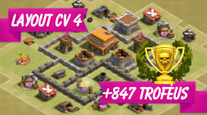Layout Cv 4 Guerra Clash Of Clans Layout Th4 War Youtube