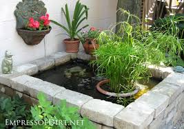beautiful backyard pond ideas for all budgets raised stone container pond