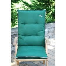 highback outdoor chair cushion high back patio chair cushion set of 2 high back outdoor chair