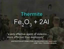 Image result for molten thermite at WTC