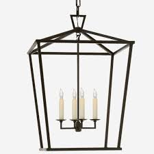 darlana lantern pendant in gilded iron