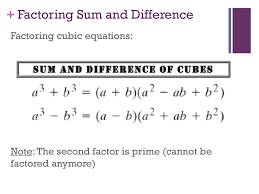 How To Factor A Cubic Polynomials Chapter Ppt Download