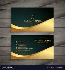 Corporate Visiting Card Design Vector Free Download Luxury Golden Business Card Design
