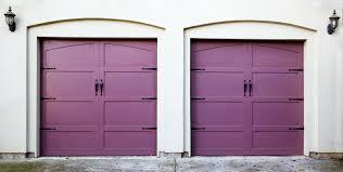 two violet purple amethyst or lavendar garage doors
