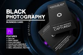 Black Photography Business Card Business Card Templates Creative