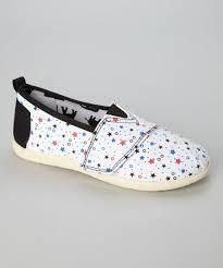 Pitter Pat White Pink Star Slip On Shoe