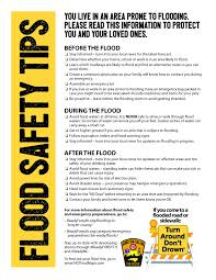 early storm in forsyth county and nc readyforsyth flood safety tips flyer page 1