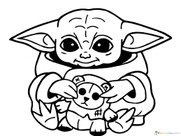 Stay tooned for more free drawing lessons by: Baby Yoda Coloring Pages Coloring Home