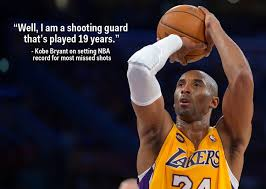 Kobe Bryant Response To Finding Out He Broke Missed Shots Record Enchanting Kobe Bryant Quotes