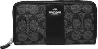 Coach Accordion Zip Wallet In Signature Coated Canvas With Leather Stripe  F54630 Svdk6 price in Dubai, UAE   Compare Prices